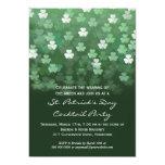 Llover la invitación del fiesta del día del St