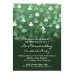 Llover la invitación del fiesta del día del St Pat