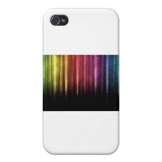 Llover las estrellas del arco iris iPhone 4 funda