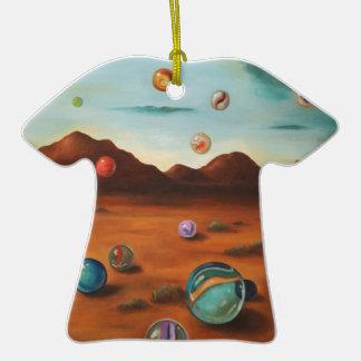 Llover los mármoles adorno de cerámica en forma de camiseta