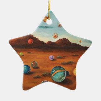 Llover los mármoles adorno de cerámica en forma de estrella