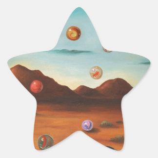 Llover los mármoles pegatina en forma de estrella