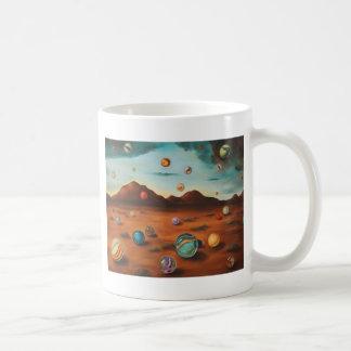 Llover los mármoles taza de café