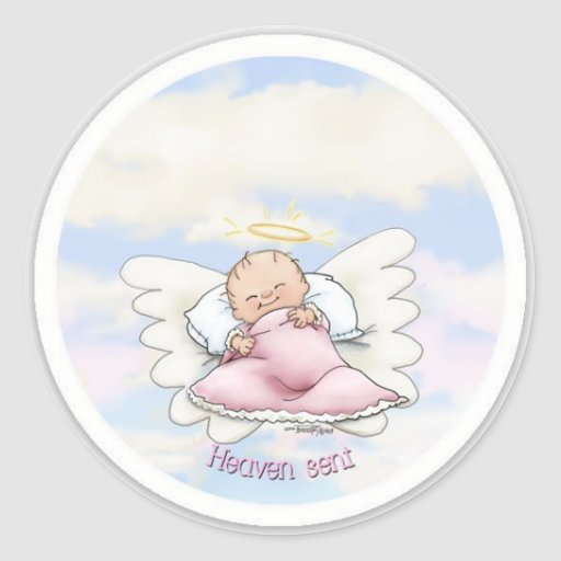 Llovido del cielo - niña del ángel etiqueta
