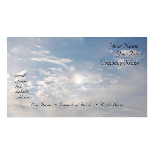 Llovido del cielo - plantilla de la tarjeta de vis plantilla de tarjeta personal
