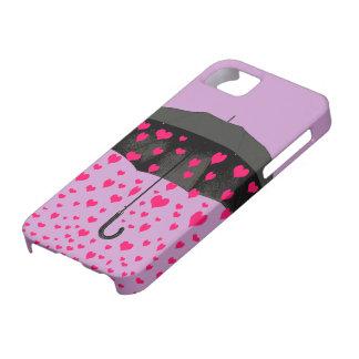 Lloviendo iphone de los corazones 5 cubiertas funda para iPhone 5 barely there