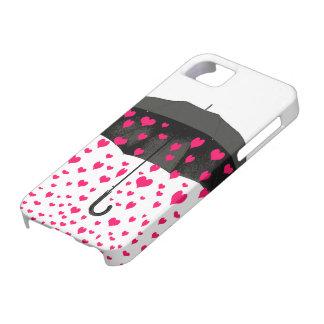 Lloviendo iphone de los corazones 5 cubiertas iPhone 5 carcasa
