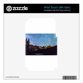 Lloviendo las estrellas encima desea lago y los calcomanías para iPod touch 4G