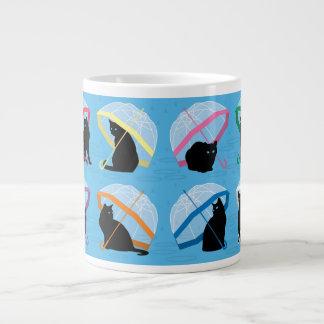 Lloviendo taza del jumbo de los gatos de n de los taza grande