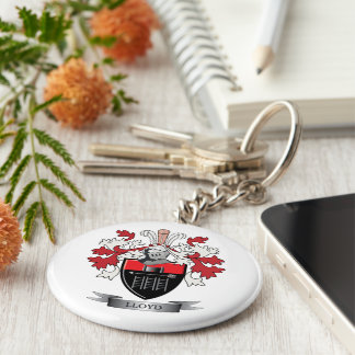 Lloyd Family Crest Coat of Arms Keychain