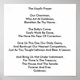 Lloyd s Prayer Poster