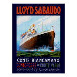 Lloyd Sabaudo ~ Conte Biancamano Poster