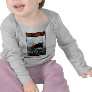 Lloyd Sabaudo Vintage Ocean Liner Advertisement Tee Shirt