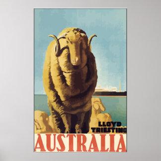 Lloyd Triesting Australia, vintage Posters