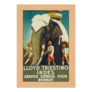 lloyd Triestino Indes Poster