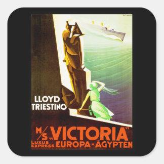 Lloyd Triestino ms Victoria Square Sticker