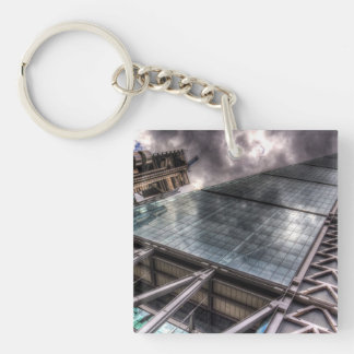 Lloyd's and the Cheese Grater Single-Sided Square Acrylic Keychain