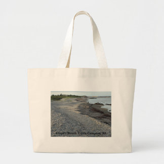 Lloyd's Beach, Little Compton, RI Large Tote Bag