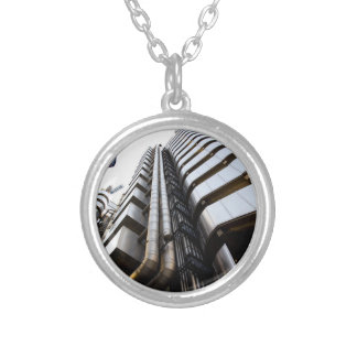 Lloyd's Building London Silver Plated Necklace