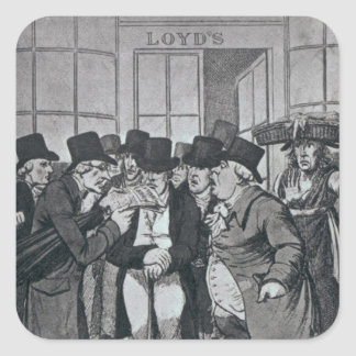 Lloyds exterior de Londres Pegatina Cuadrada