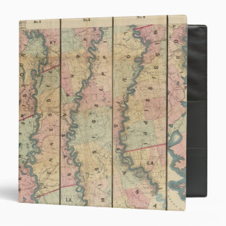 Lloyd's map of the Lower Mississippi River 3 Ring Binder