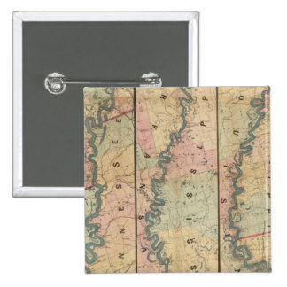 Lloyd's map of the Lower Mississippi River Pinback Buttons