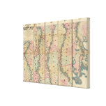 Lloyd's map of the Lower Mississippi River Canvas Print