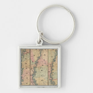 Lloyd's map of the Lower Mississippi River Keychain