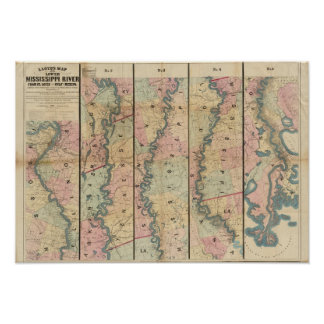 Lloyd's map of the Lower Mississippi River Print