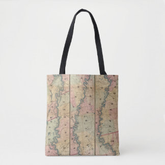 Lloyd's map of the Lower Mississippi River Tote Bag