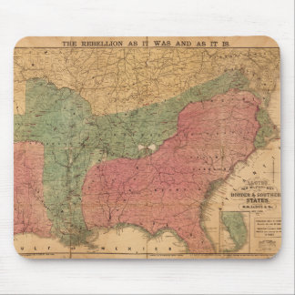 Lloyd's New Military Map Border & Southern States Mouse Pad