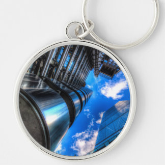 Lloyd's of London and Cheese Grater Silver-Colored Round Keychain