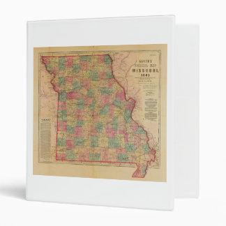 Lloyd's Offical Map of Missouri (1861) 3 Ring Binder