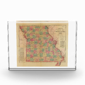 Lloyd's Offical Map of Missouri (1861) Award