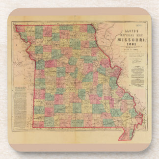 Lloyd's Offical Map of Missouri (1861) Coaster