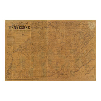 Lloyd's official map of the state of Tennessee Print
