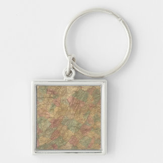 Lloyd's official map of the State of Virginia Keychain