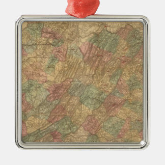 Lloyd's official map of the State of Virginia Metal Ornament