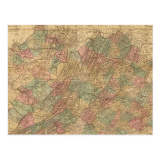 Lloyd's official map of the State of Virginia Postcards
