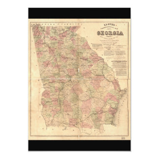 Lloyd's Topographical Map of Georgia (1864) Card