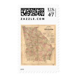 Lloyd's Topographical Map of Georgia (1864) Postage