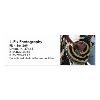 LLPix Photography Double-Sided Mini Business Cards (Pack Of 20)