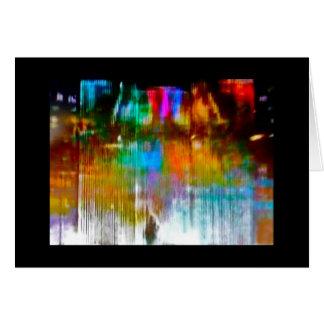 """""""Llueva abajo en mí"""" la tarjeta del arte, esconden"""
