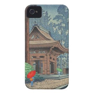 Llueva en el hanga de la espinilla de Asano Takeji iPhone 4 Case-Mate Cobertura