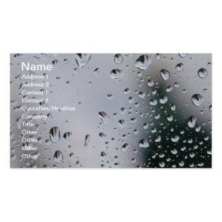 Llueva los descensos en la tarjeta de cristal del  plantilla de tarjeta personal