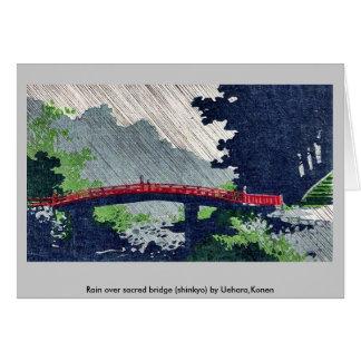 Llueva sobre el puente sagrado (shinkyo) por Uehar Felicitacion