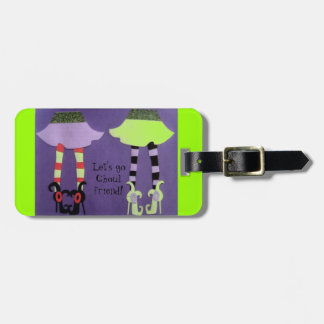 "lLuggage tag ""Let's go ghoul friend!"" Tag For Bags"