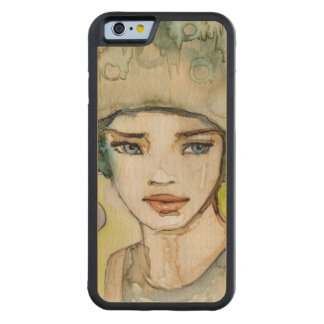 llustration de un chica hermoso, delicado funda de iPhone 6 bumper arce