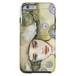 llustration de un chica hermoso, delicado funda de iPhone 6 tough