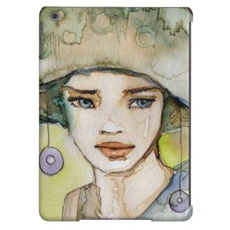 llustration de un chica hermoso, delicado funda para iPad air